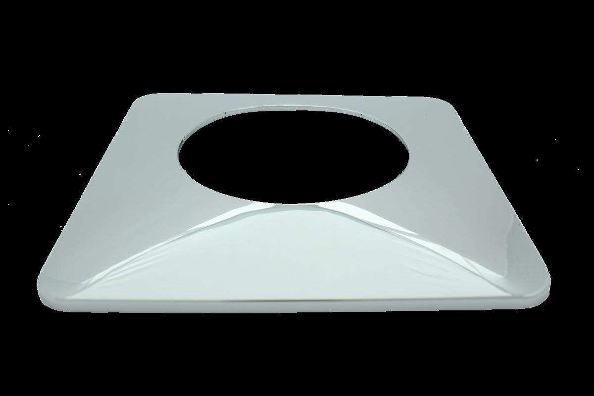 Rosette für WZ BL 60mm verchromt mit versetzter Bohrung