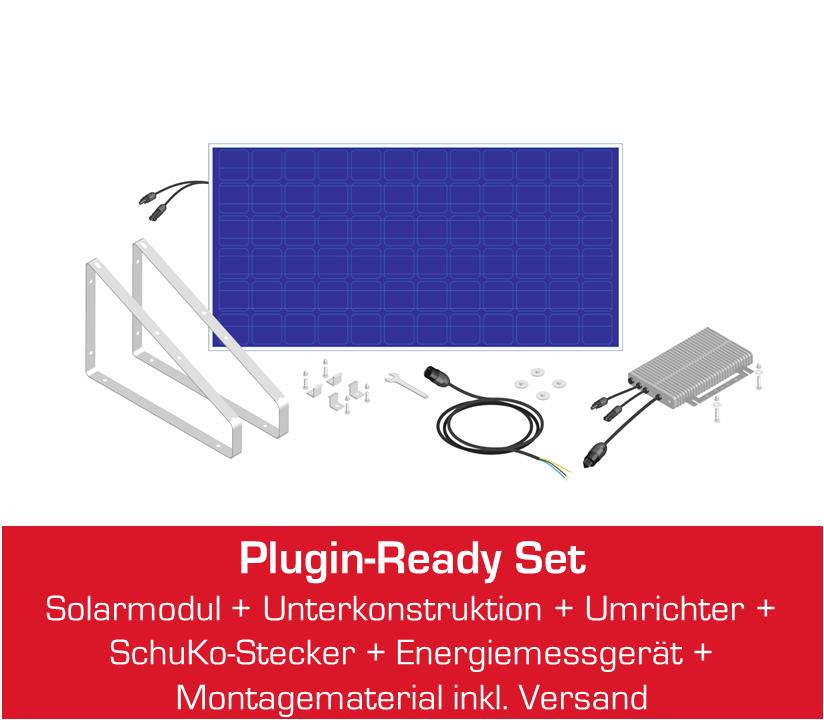 miniJOULE plug&play Solaranlage für Zuhause Übersicht Komponenten