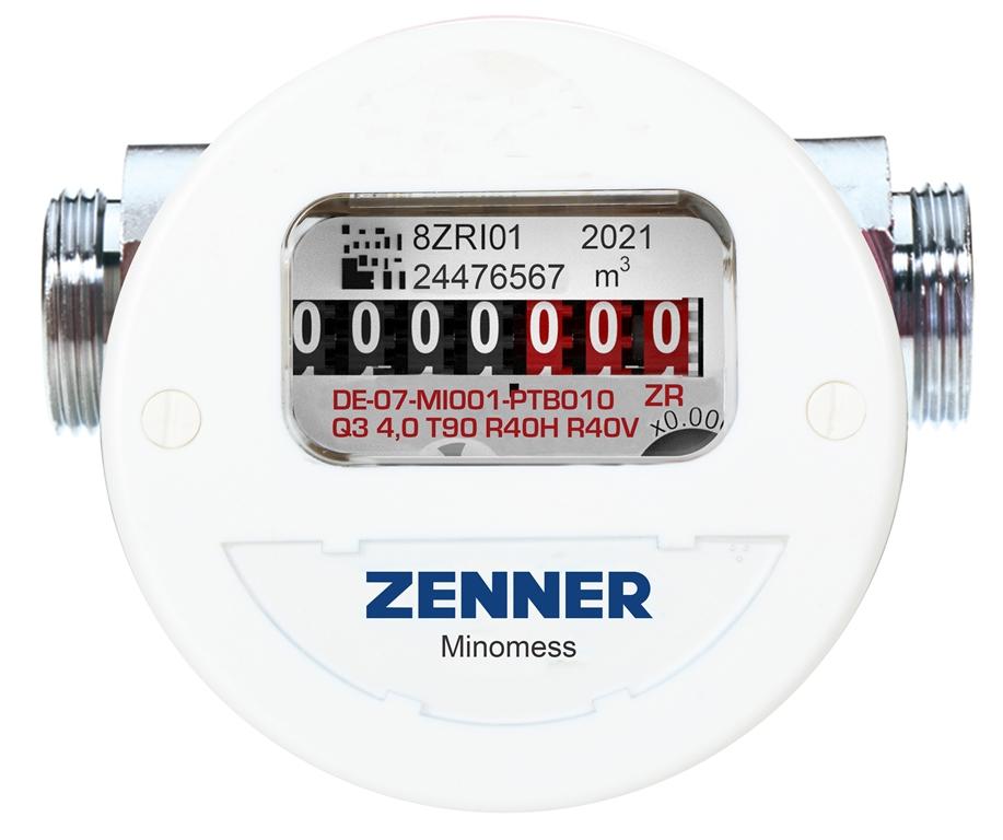 Minomess® Universalzähler M22 Warmwasser Frontansicht