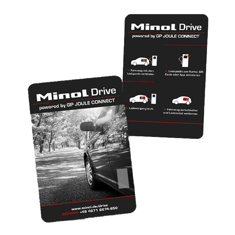 Im Lieferumfang: Minol Drive Ladekarte für Unterwegs