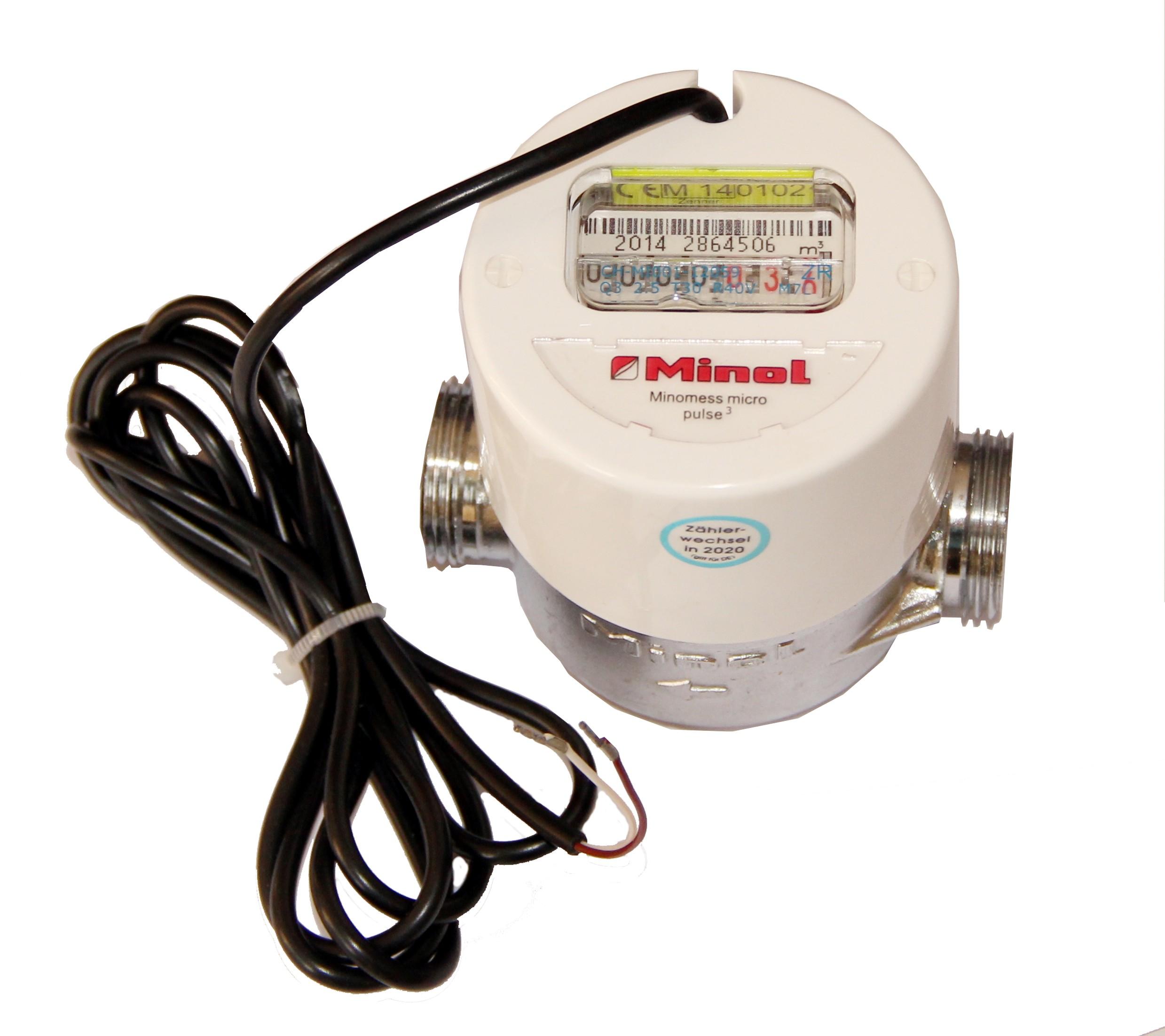 Brunata Minol Minomess® Pulse 3 Aufputzzähler; Temperatur : Kaltwasser bis 30 °C; Q3 : 2,5 m³/h; Bau