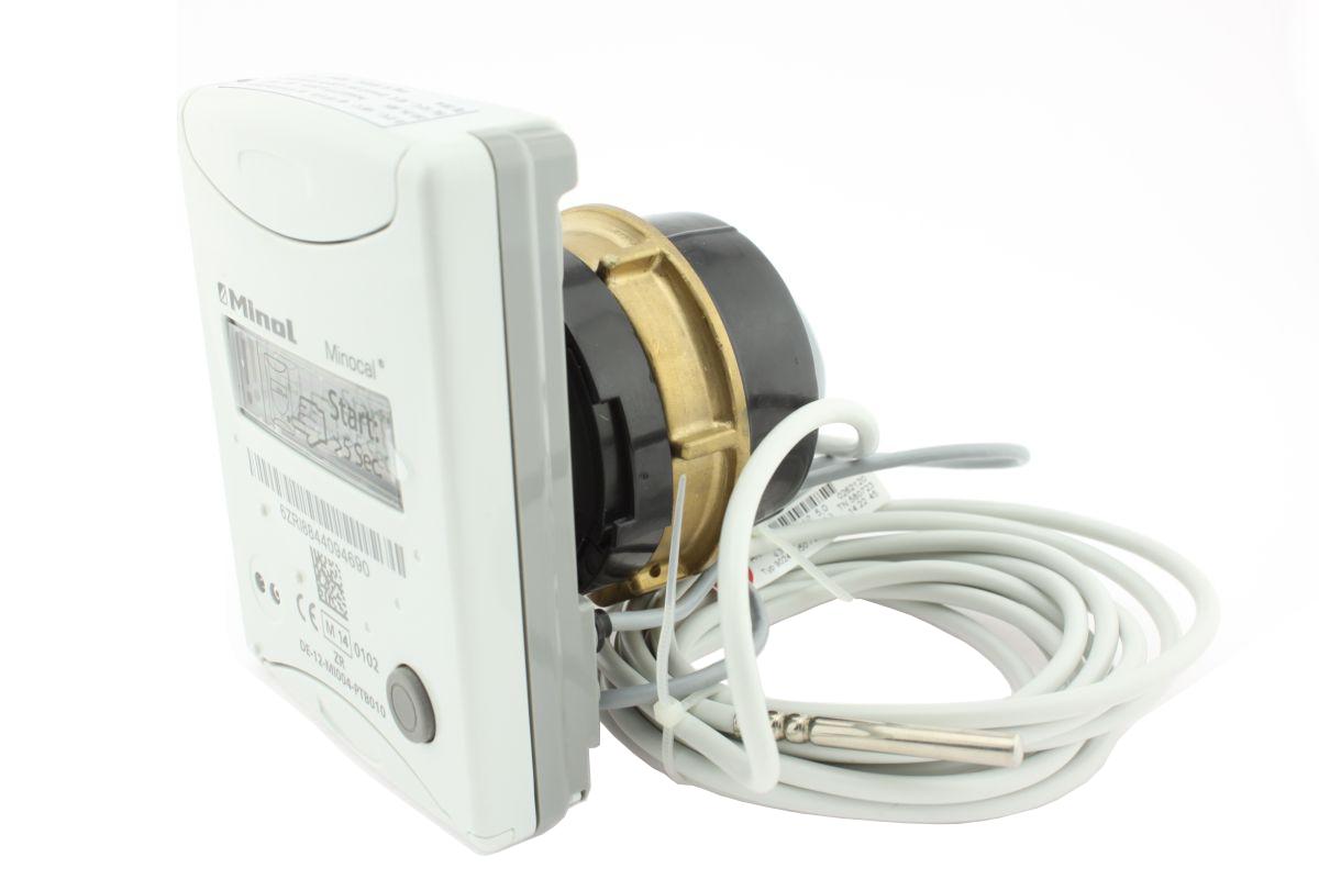 Kompaktwärmezähler Minocal Combi C5-CMF Messkapsel qp0,6 m³/h, Typ TE1 M62x2 Fühlerkabel 1,5m