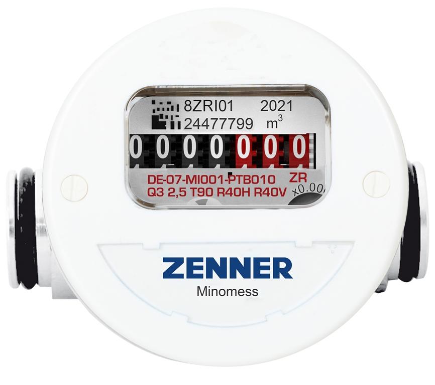 Minomess® Steck Aufputzzähler Frontansicht