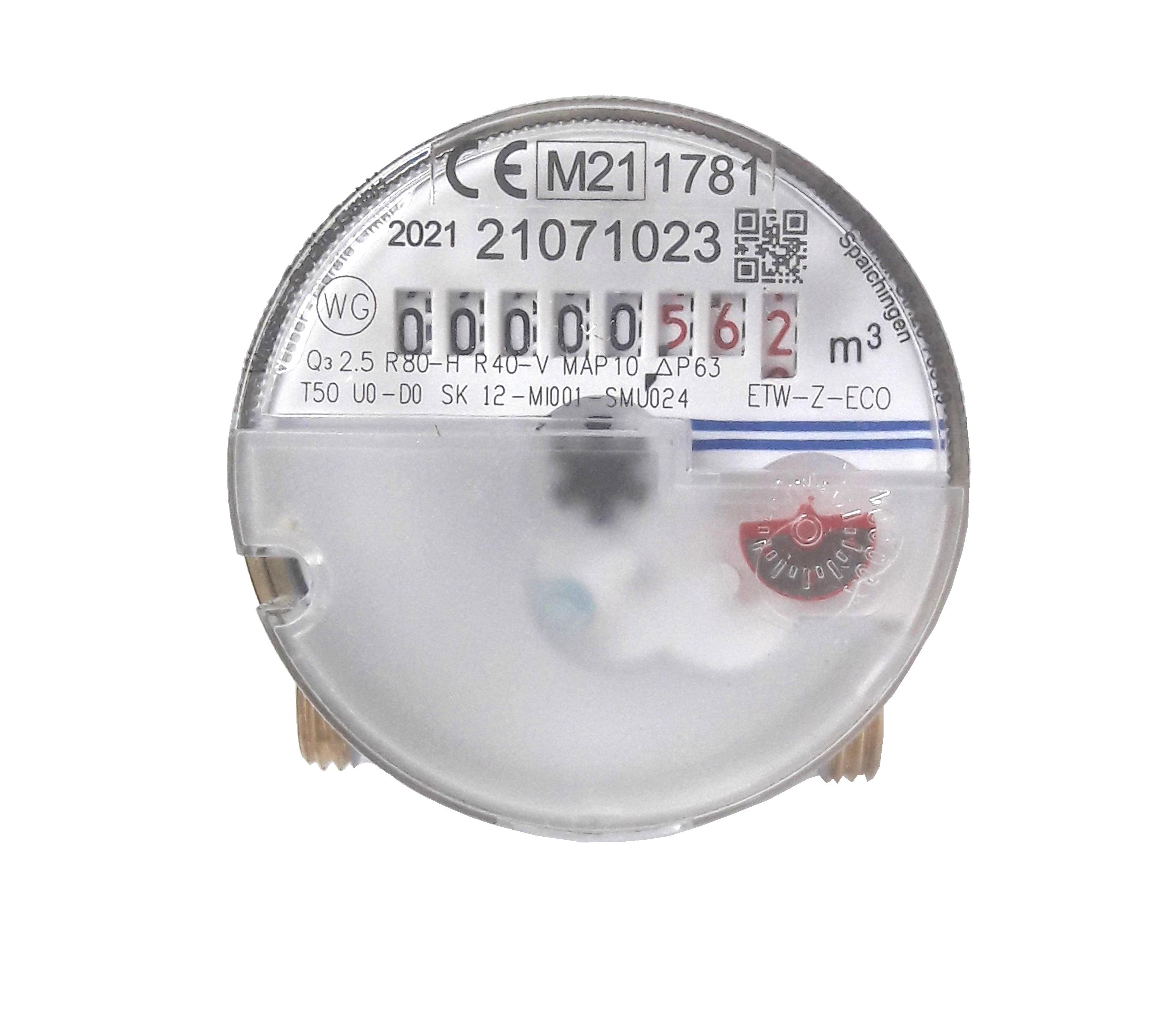 Brunata Minol Austauschzähler für Aufputzinstallation 60mm
