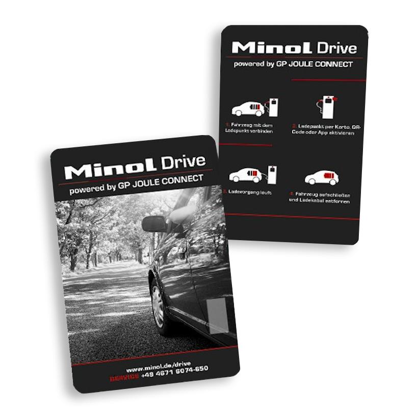 Minol Drive Ladekarte für E-Autos