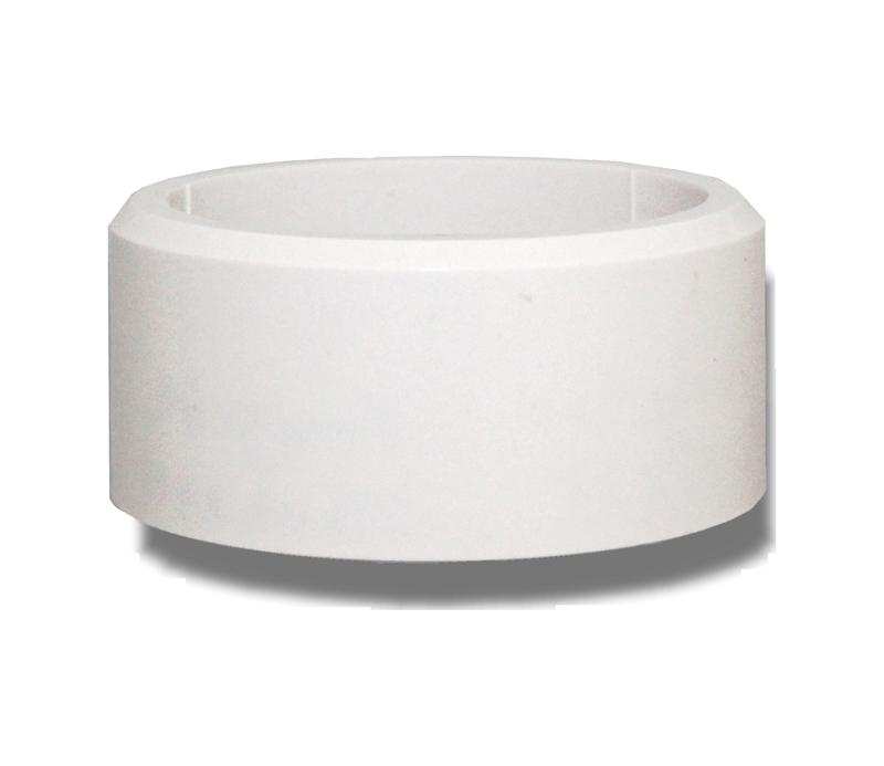Dekorhülse weiß D75xH35 für Minol-Austauschwasserzähler in Armaturen
