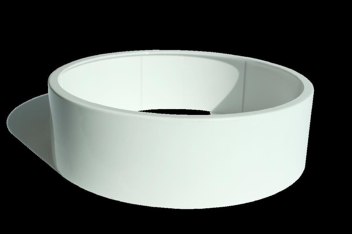 Rosettenverlängerung ø135x40 weiß f.Minol-Rosette