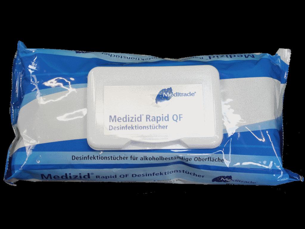 Desinfektionstuch Medizid® Rapid QF Flowpack Desinfektionstücher (VPE 3x80 Tücher pro EinzelPack)