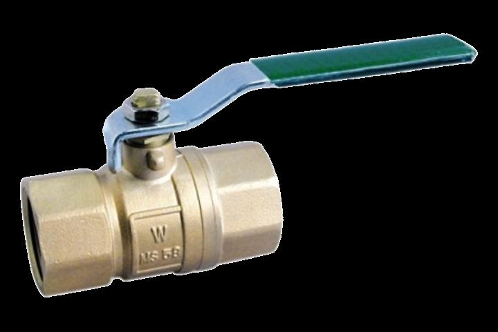 Kugelhahn R12IG verchromt, mit DVGW-Trinkwasserzulassung