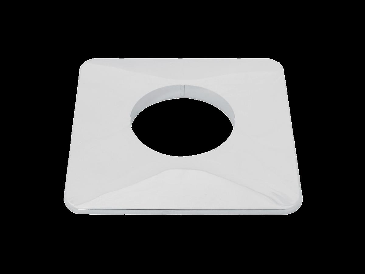 Brunata Minol Rosette für Unterputz-Einbaukasten verchromt