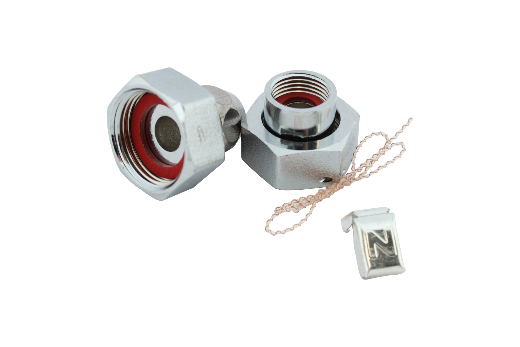 Einbauset für Waschtischzähler mit Quetschverschraubung 10mm