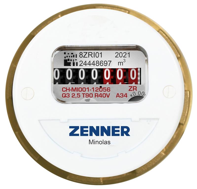 Minolas® Unterputzzähler Warmwasser Frontansicht